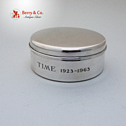 SALE Tiffany Box Time Magazine 40th Anniversary Sterling Silver Thomae