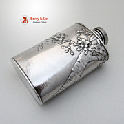 SALE Dogwood Blossom Powder Shaker Sterling Silver 1900