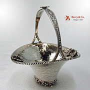 SALE Grape Basket Hand Made Greek Sterling Silver 1960 No Monogram