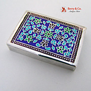 SALE Silver Multi Colored Enamel Pill Box