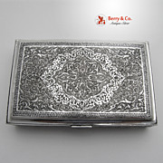 Persian Solid Silver Cigarette Box 1890