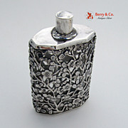SALE Perfume Bottle Cherry Blossom Chinese Export Silver 1920