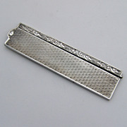 Solid Silver Comb with Case 900 Silver 1900