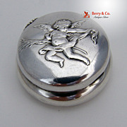 Cherub Cupid Pill Box Sterling Silver Howard 1890