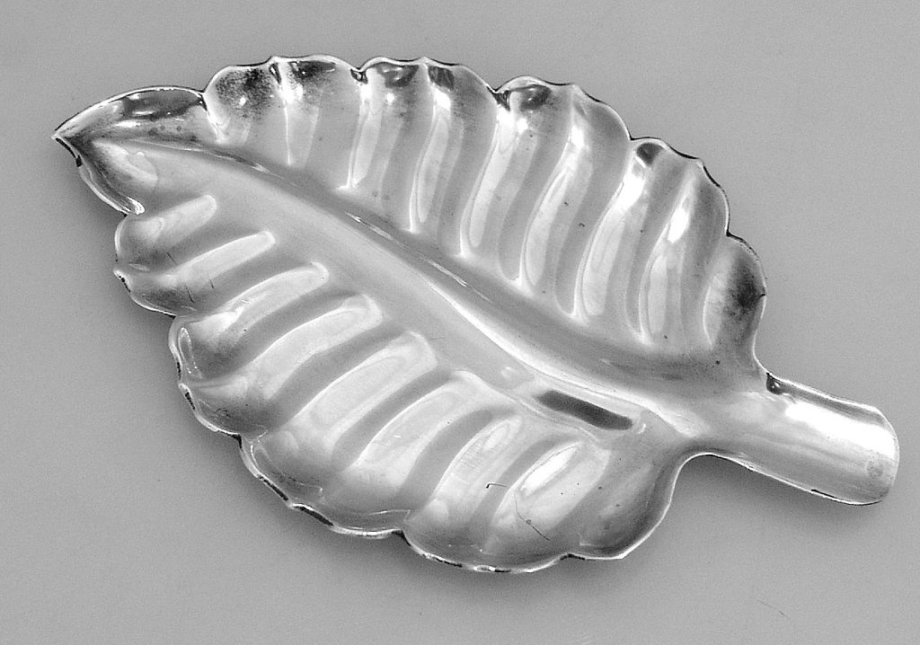 Art Moderne Leaf Dish Sanborns Mexico Sterling Silver 1950