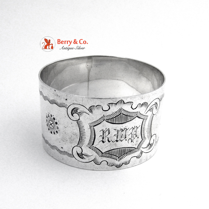 napkin ring engraved sterling silver 1900 from berrycom