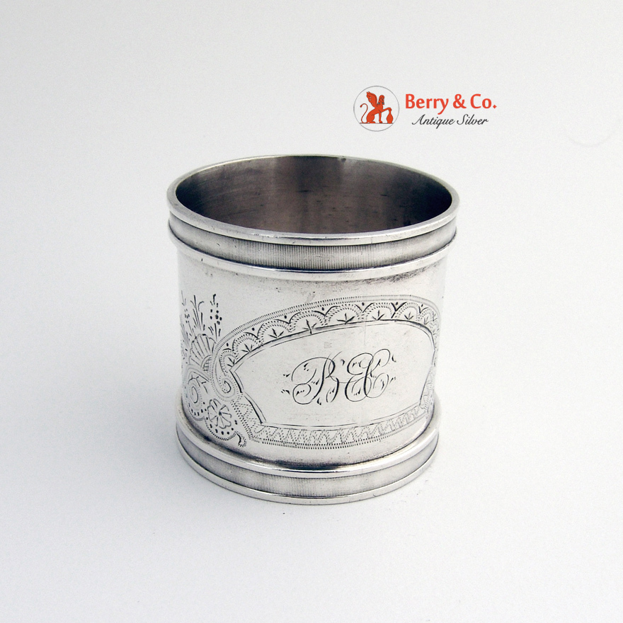 coin silver napkin ring engraved from berrycom on ruby