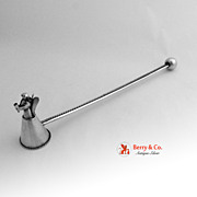Angel Ball Handle Sterling Silver Snuffer 1950