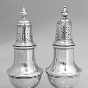 Salt and Pepper Shakers Colonial Revival Redlich 1910 Sterling Silver