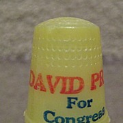 DAVID PRYOR For Congress Plastic Thimble