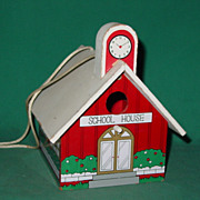 Vintage Bird House Little Red School House Birdhouse