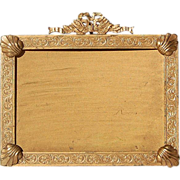 Antique Solid Brass 19th Century French Frame