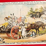 Victorian Trade Card A. S. T. Co. Black Tipped Shoe