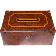 Great Burl Wood Dresser/Jewelry Box Inlay