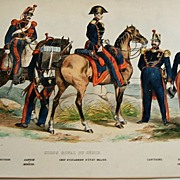 French Military Lithograph Corps Royal Du Genie