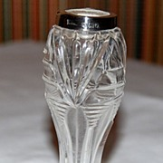 Darling English 1913 Sterling Rim Cut Glass Vase