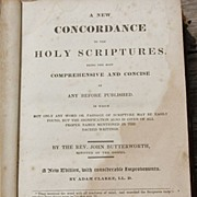Antique 1831 A New Concordance To The Holy Scriptures