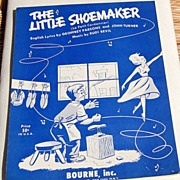 "REDUCED 1954 Sheet Music ""The Little Shoemaker"""