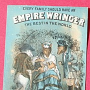 REDUCED Vintage Advertising Trade Card Empire Wringer Co.