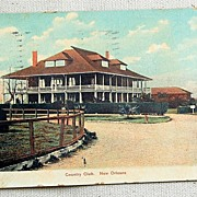SALE 1909 Postcard Country Club New Orleans