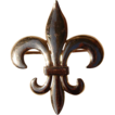 Vintage 10K Gold Fleur D Lis Watch Pin/Brooch
