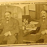 REDUCED 1910 Stereophotography Stereoview Card Mr. R. W. Sears At His Desk No.1
