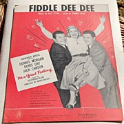 REDUCED Vintage 1959 Fiddle Dee Dee Sheet Music
