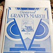 REDUCED 1933 Vintage Sheet Music General Grant's March By Mack