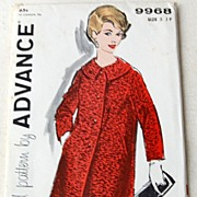 REDUCED Vintage Advance Junior Petite Coat Pattern Size 5