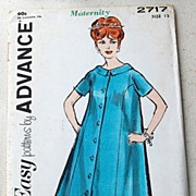 REDUCED Vintage Advance Ladies Maternity Sewing Pattern Size 12