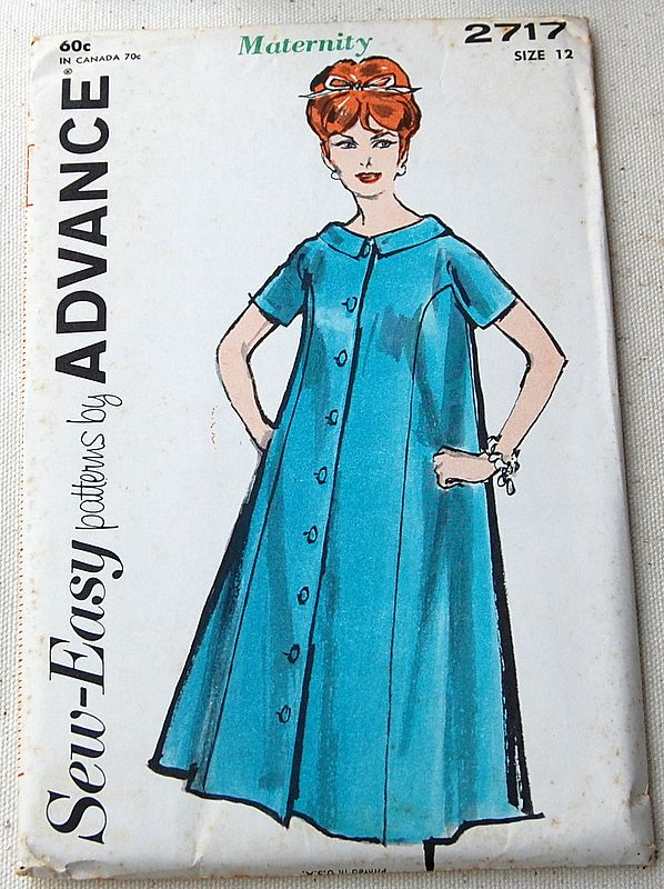 Vintage Advance Ladies Maternity Sewing Pattern Size 12