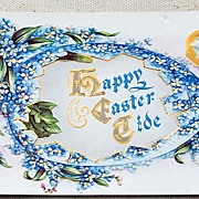 SALE Vintage Embossed Happy Easter Tide Postcard