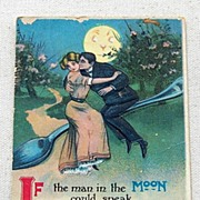 SALE 1912 Embossed Romantic Post Card