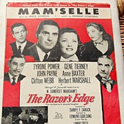 REDUCED 1947 Vintage Sheet Music Mam'Selle From The Razor's Edge