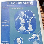 "REDUCED Vintage 1946 Sheet Music ""Humoresque"""