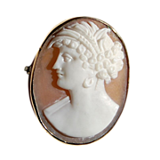 Victorian Gold Filled Cameo Brooch
