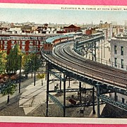 SALE World War 1 Solder's Post Card 110th Street Railway Curve New York