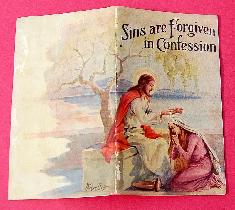 1934 Sins Are Forgiven In Confession