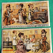 REDUCED Rising Sun Stove Polish Victorian Trade Card