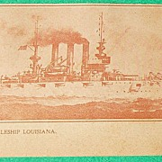 SALE Vintage U. S. Battleship Louisiana Post Card