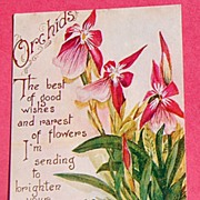 SALE 1910 Birthday Post Card Orchids-G. K. Price
