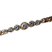 SALE Vintage 14K Gold Diamond Bracelet