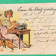 SALE 1906 Excuse The Liberty Of Writing You Post Card