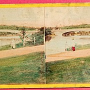 Summer Of 1865 The Bow Bridge Central Park New York Stereophotography Stereoview  #1165