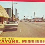 Greeting From Picayune Mississippi Post Card