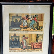 Vintage Two Framed Rising Sun Stove Polish Trade Cards