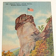SALE 1947 Chimney Rock, Western North Carolina Postcard #220