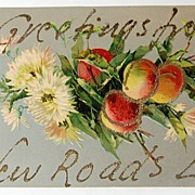 SALE 191907 Greetings From New Roads La. Glitter Embossed Post Card