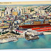 SALE Vintage Postcard Aerial View Of New America's Most Interesting City