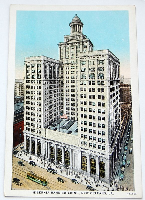 Vintage Postcard Hibernia Bank Building New Orleans